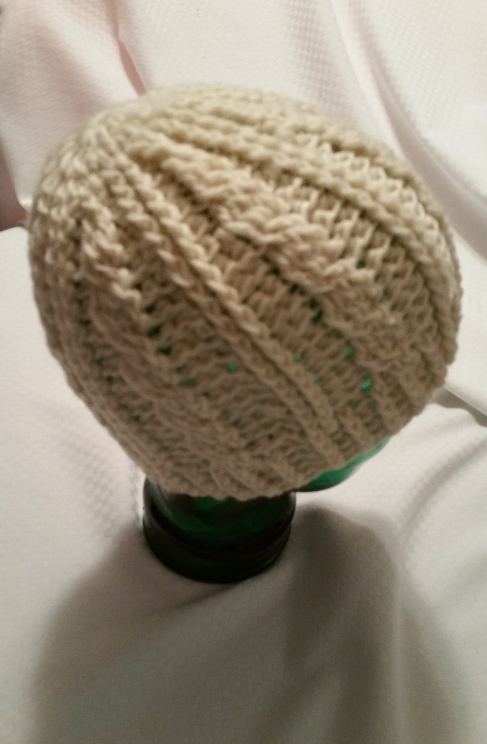 Creme Crochet Cable Hat Lees Yarning