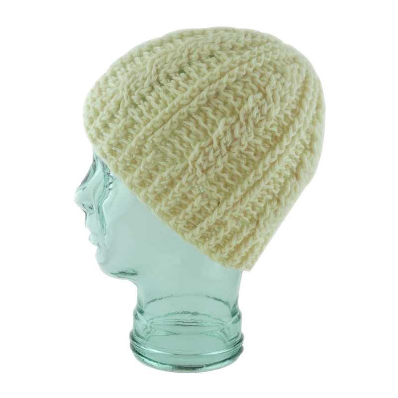 Creme Cable Crochet Hat