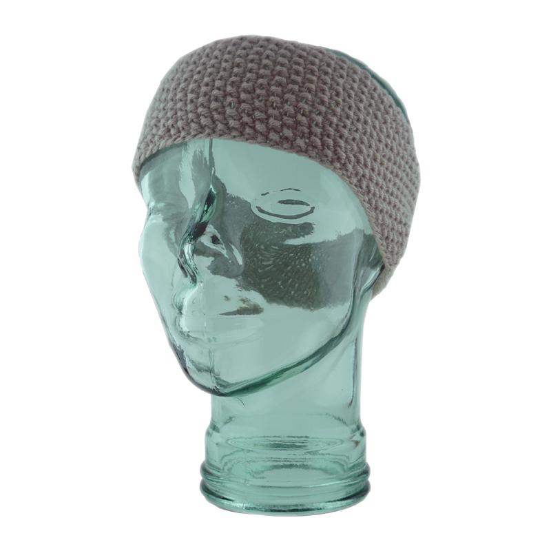 Gray Moss Stitch Headband