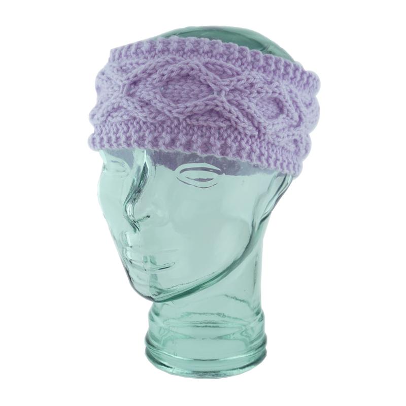 Lilac Blarney Kiss Cable Headband