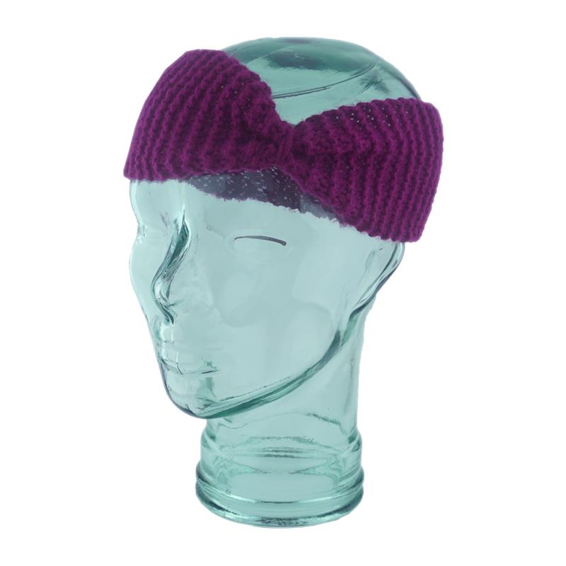 Purple Garter Crimped Headband