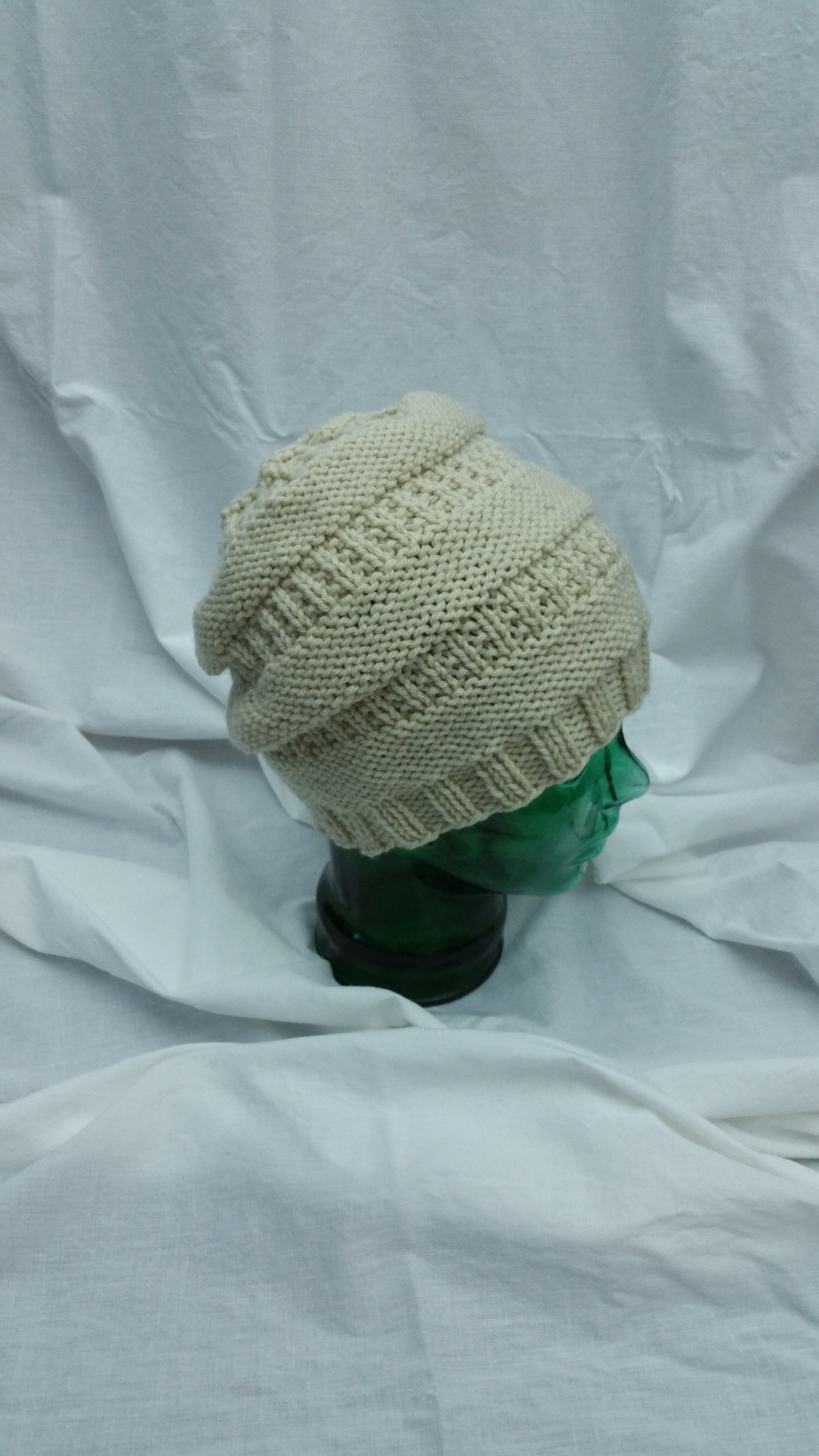 5505a64a472 Creme Slouch Knit Hat – Lee s Yarning